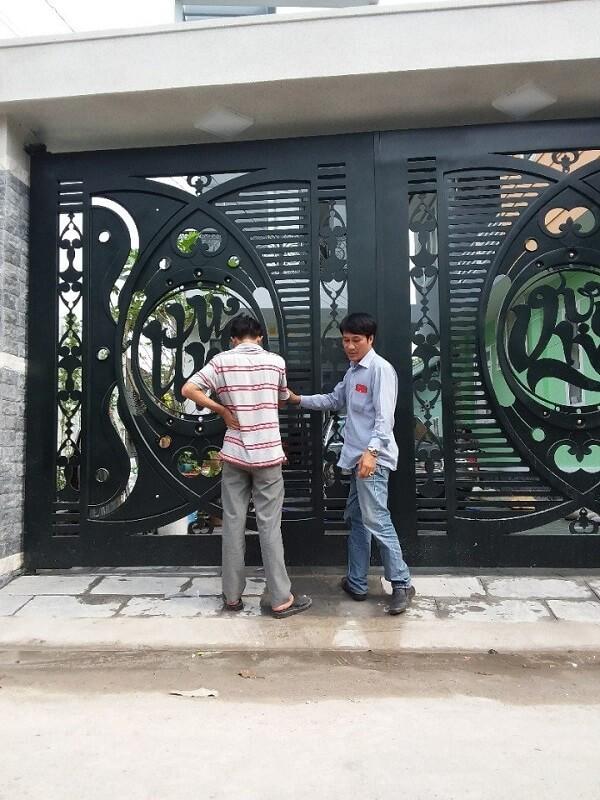 cổng sắt mỹ thuật